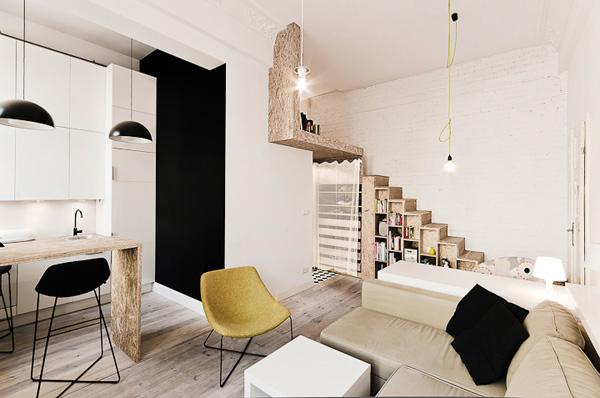 Essere chic in 29 metri quadri by 3xa for Piani loft appartamento