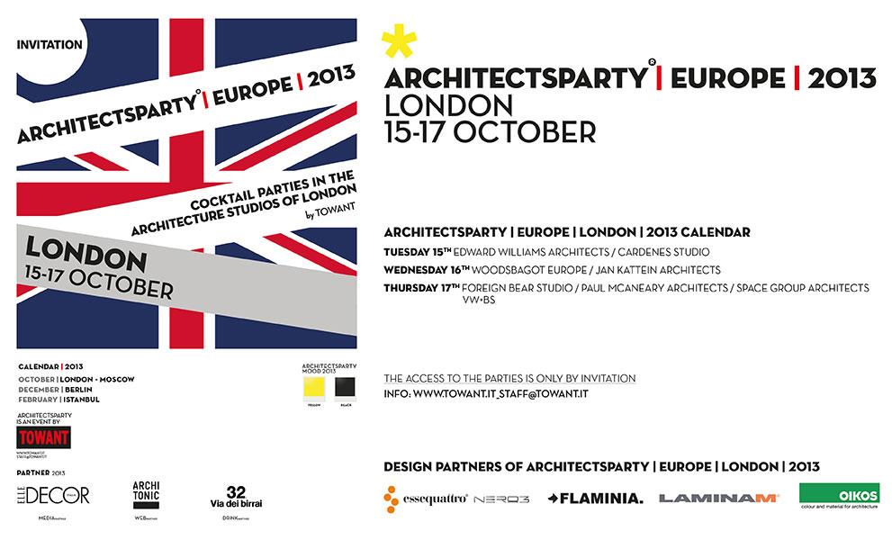 ArchitectsParty|EUROPE, è festa a Londra