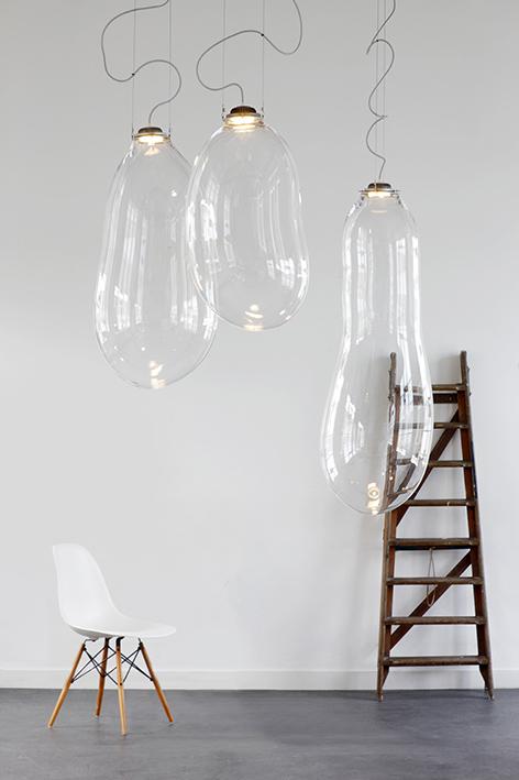 Big Bubble Light, luce in vetro
