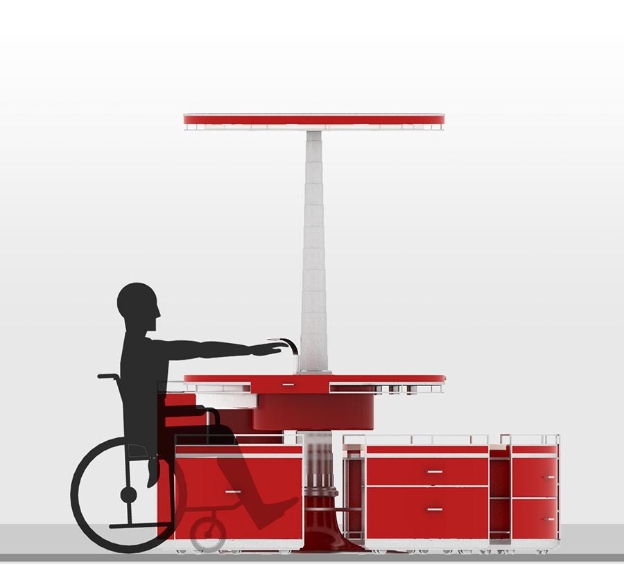 Kitchen revolution nasce la cucina per disabili - Cucine per disabili ...