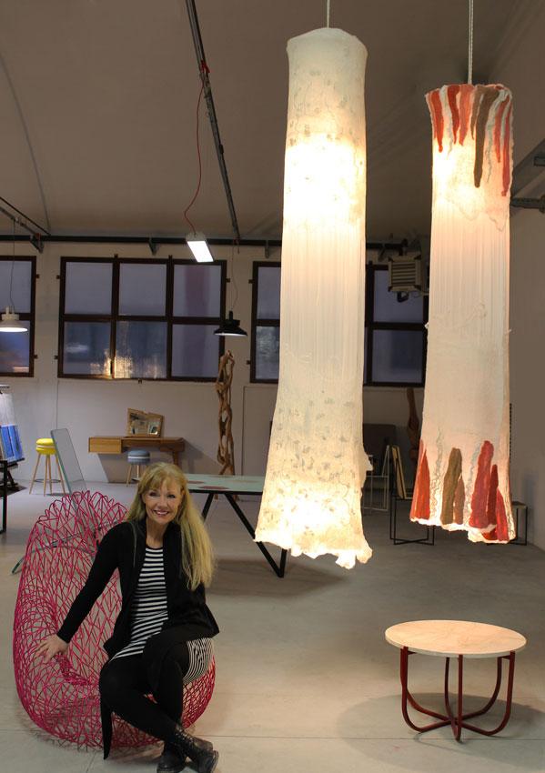 Le lampade di Judith Byberg illuminano lo showroom di TID