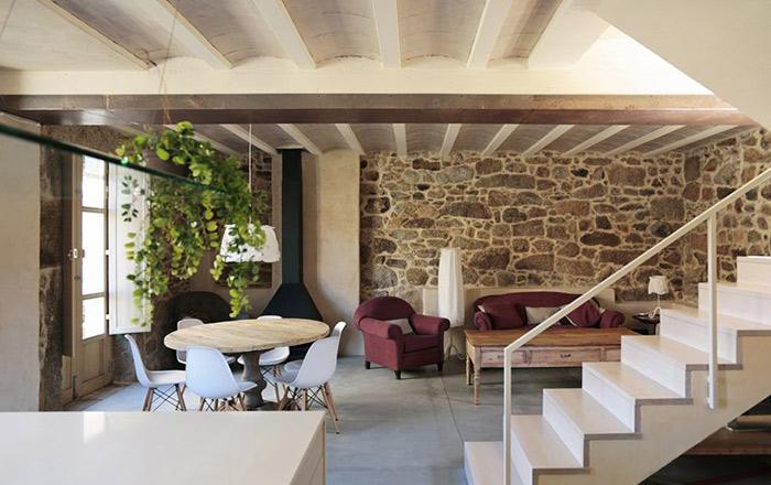 dom arquitectura un interior design moderno per un antica