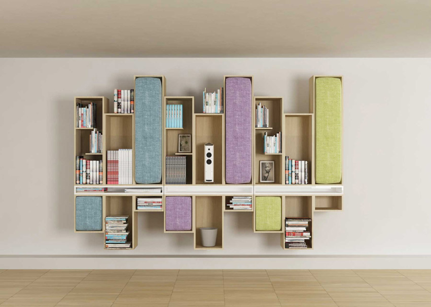 La libreria salvaspazio di li ving design studio for Articoli di design per la casa