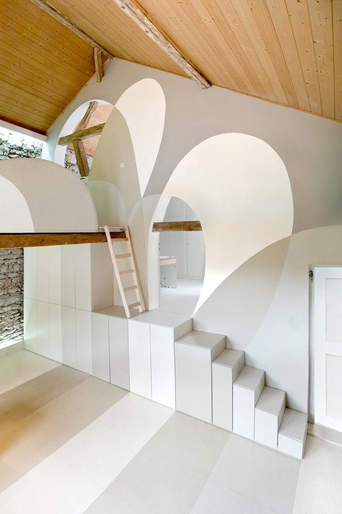 Senagold da un fienile a un ufficio di design for Design di ufficio