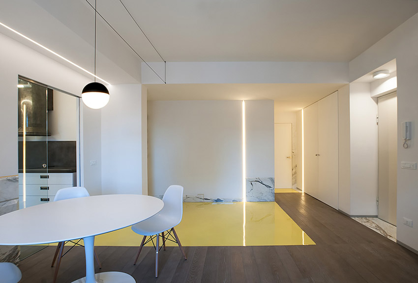 Illuminazione soggiorno led design casa creativa e for Lampadari a led per interni