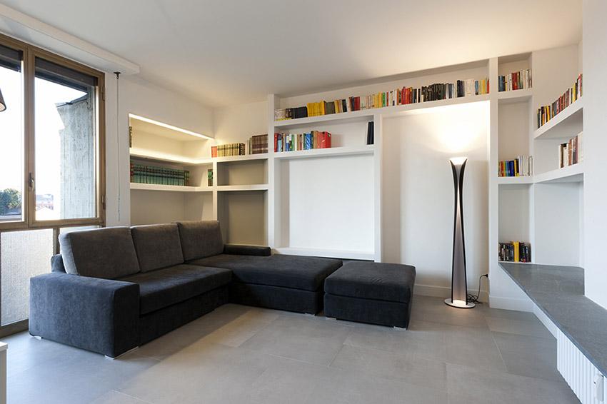 Salotto Con Parquet E Libreria A Muro Interior Design : Il soggiorno dritte di illuminazione