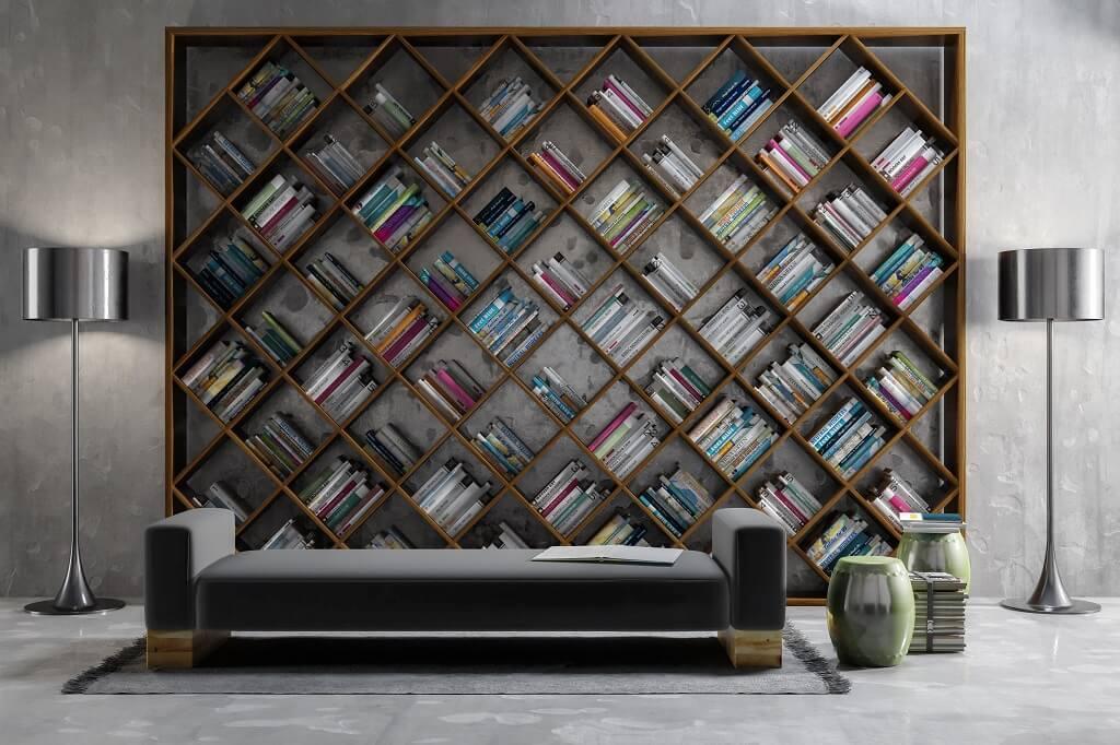 Librerie design: il salotto e\' un viaggio