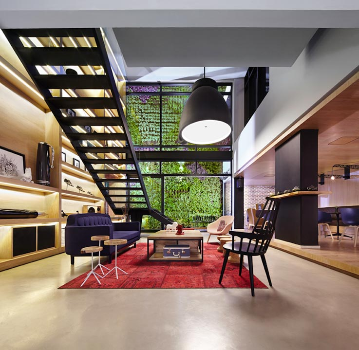 Click clack un hotel di design a bogot for Hotel design 100 bogota