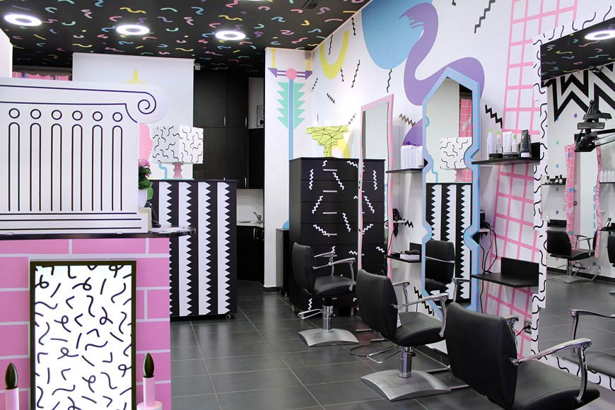 pop art coiffeur. Black Bedroom Furniture Sets. Home Design Ideas