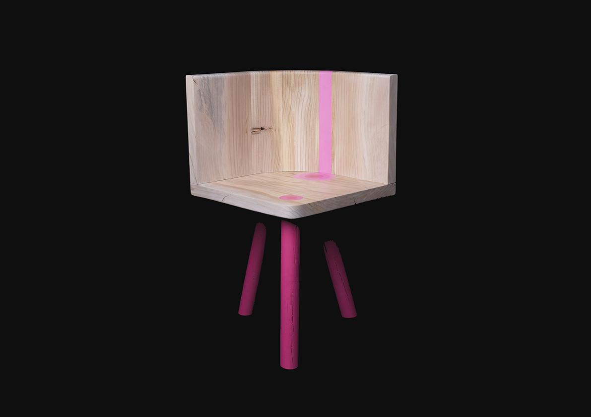 La sedia color power di Luca Bassani