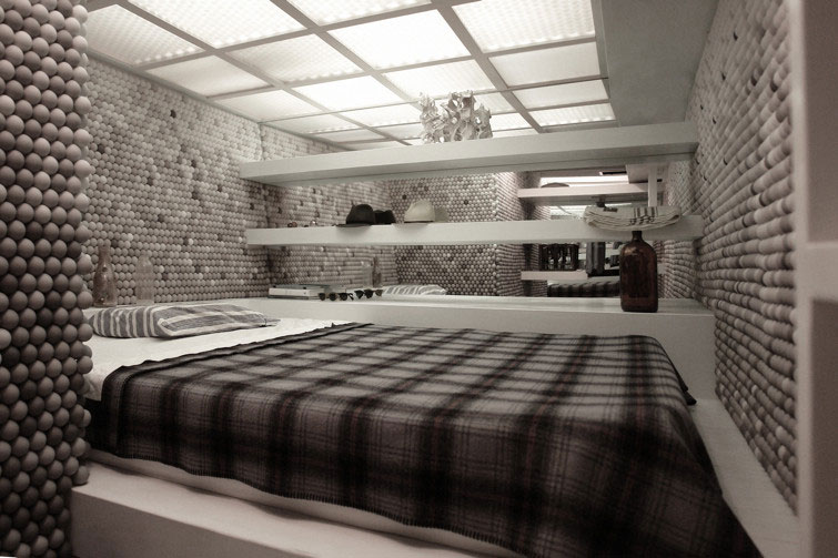 Un loft fatto da 25,000 palline da ping pong