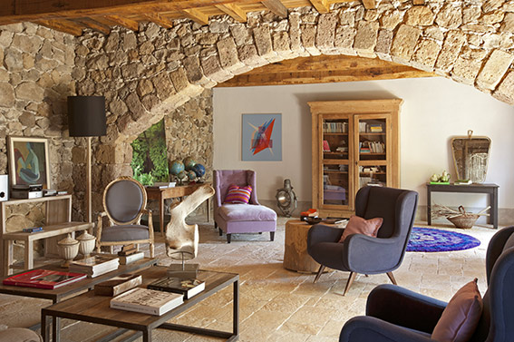 Relax tra gli ulivi by claudia pelizzari for Casas de campo decoracion interior