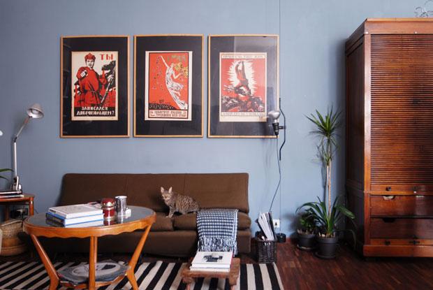 Stile vintage - Colore divano pavimento cotto ...