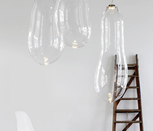 Big Bubble Light, luce in vetro