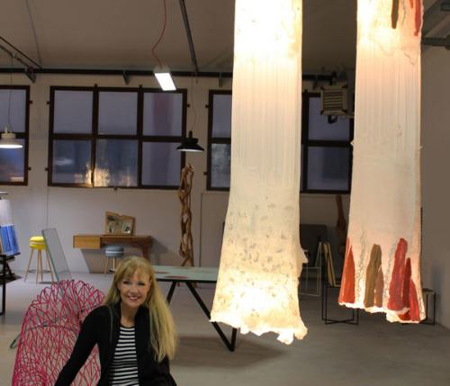 Judith Byberg's lamps light up Spazio TID showroom