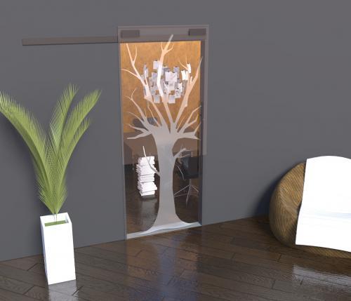 Porte in cristallo temperato e decoro sabbiato - Home design decoro shopping ...