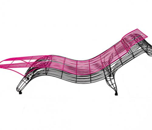 Chaise longue+jolly - serie minimalisti