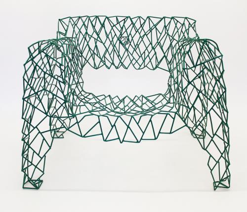Glass Shanghai - green armchair