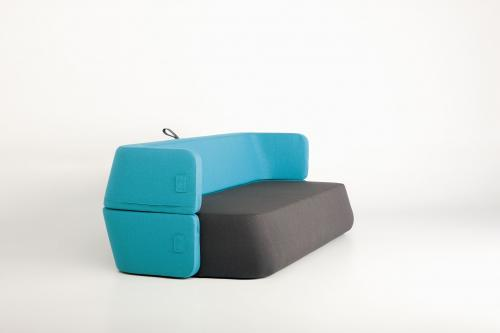Revolve: Collapsible sofa