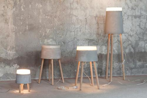 CONCRETE floor/table lamps & wall lamp