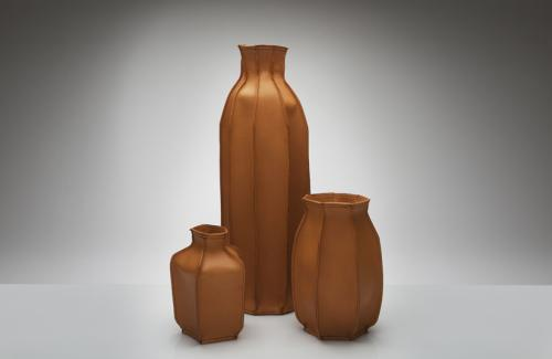 Plumber's Piece: leather vases