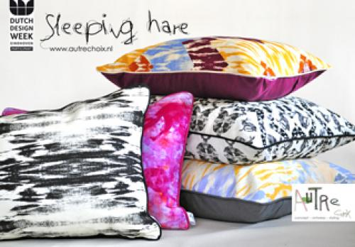 Sleeping Hare cushion collection