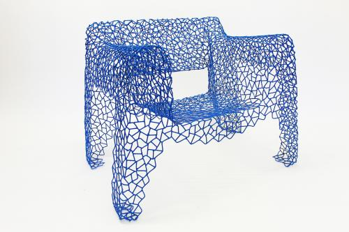 Transparent - blue armchair