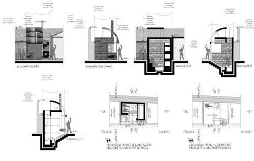 Proposta di progetto per un edicola funeraria privata di for Versare disegni e progetti