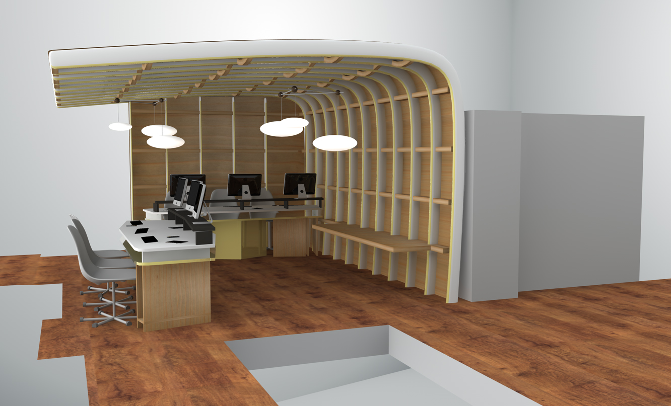 organic honeycomb shaped plywood structure