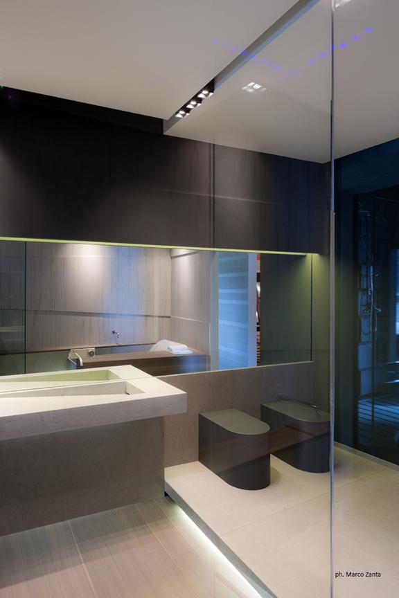 Bagno in marmo - Controsoffitto bagno ...