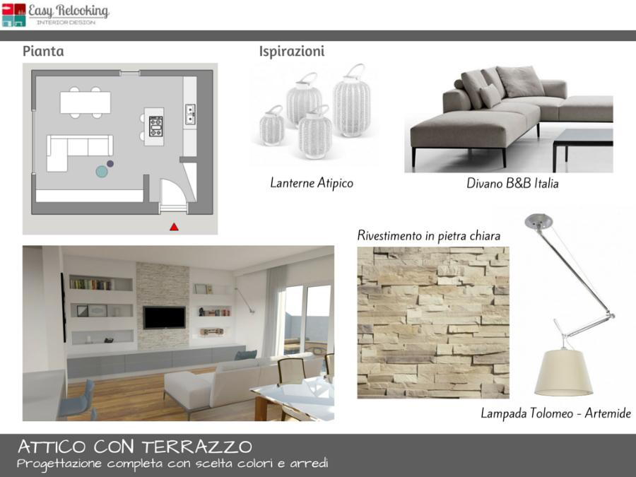Progettazione Attico con terrazzo a Milano