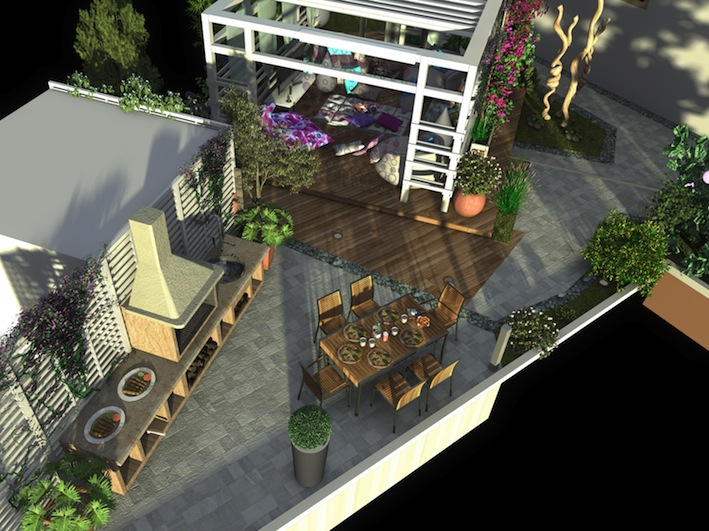 un piccolo giardino privato - Giardino Piccolo Progetto