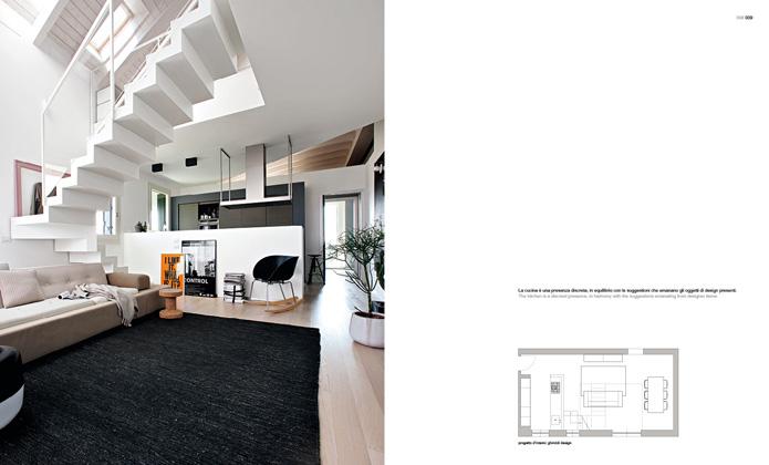 Una senzazione di libert un appartamento su due piani for Piani di luce biliardo