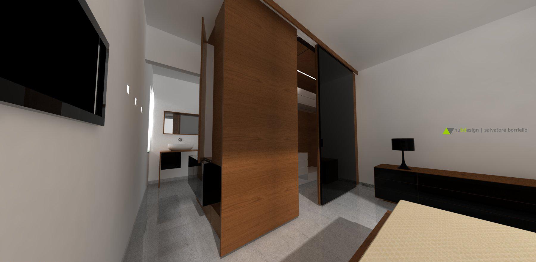 Progetto di interior design per casa spataro - Cabina armadio con bagno ...