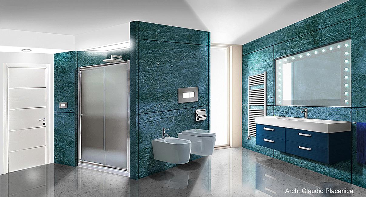 Ambiente bagno boiserie in ceramica per bagno - Mobili casabella srl ...