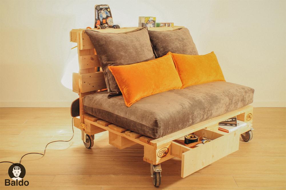 Baldo il divano gagliardo - Divano di pallet ...