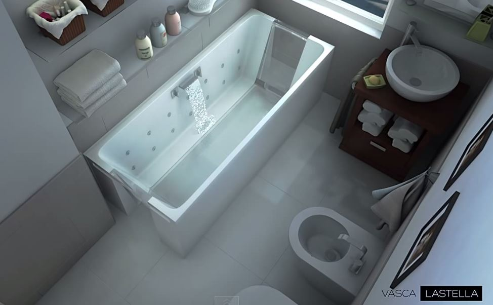 Vasca Da Bagno Con Vista Sulla Citta Interior Design : Vasca lastella