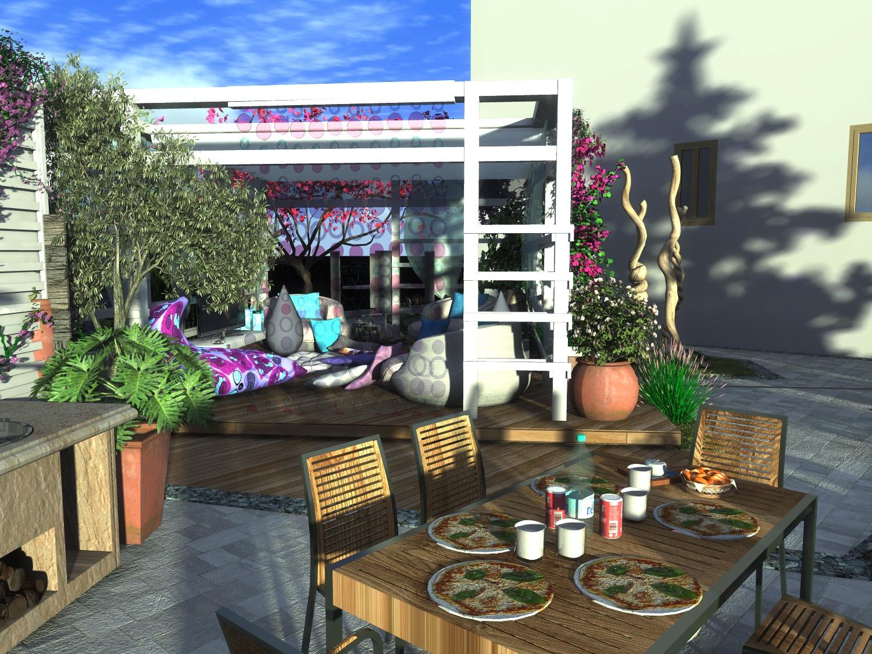 Un piccolo giardino privato for Idee giardino piccolo