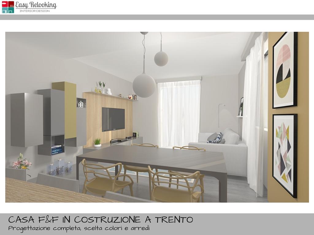 Progettazione di interni per villa indipendente for Progetto soggiorno
