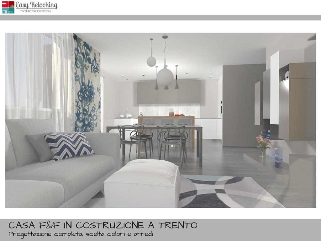 Progettazione di interni per villa indipendente for Arredo casa trento
