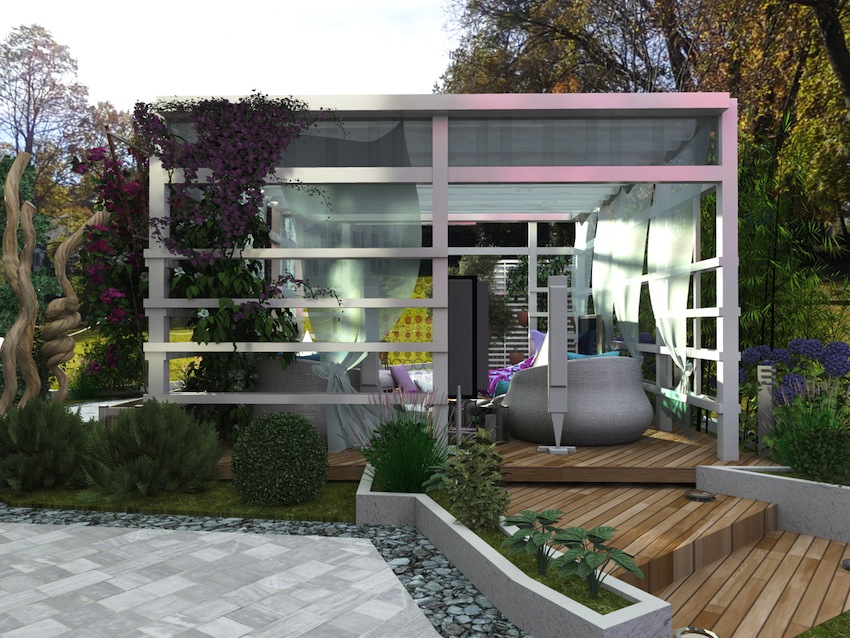 Un piccolo giardino privato for Design giardini