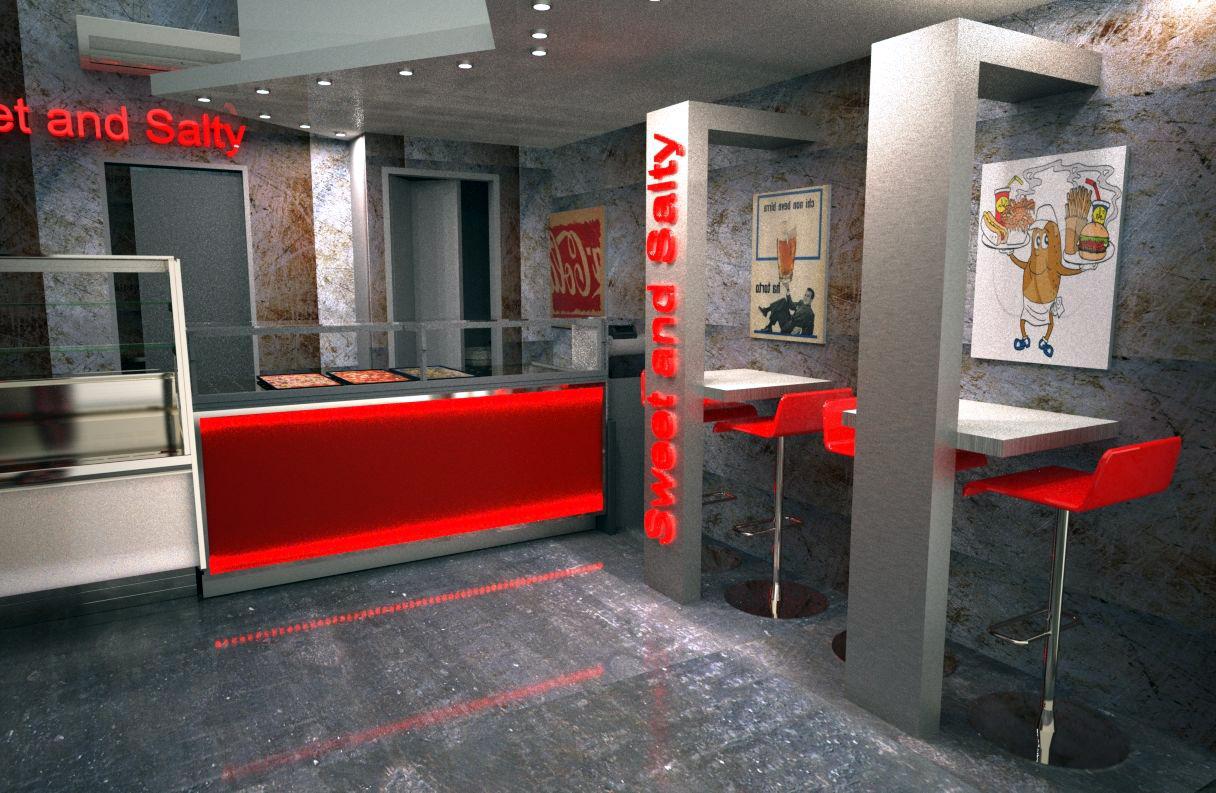idee arredo bar. idee per un angolo bar american style con ante in ... - Arredamento Moderno Per Pizzerie