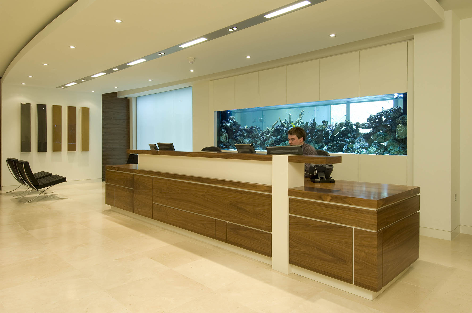 Fish tank for the office - Private Equity Firm In London