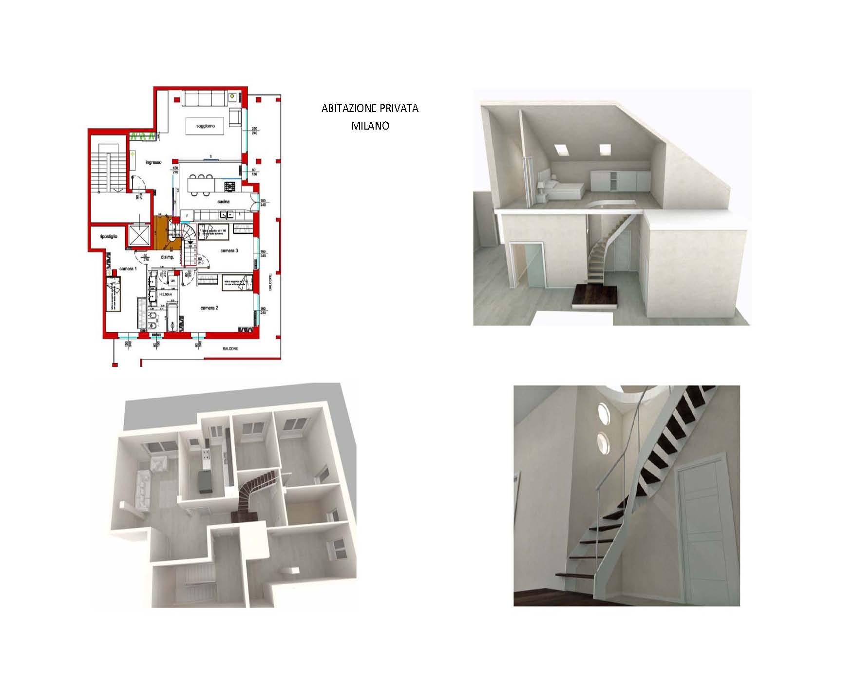 Appartamento su due piani for Design a due piani con planimetria