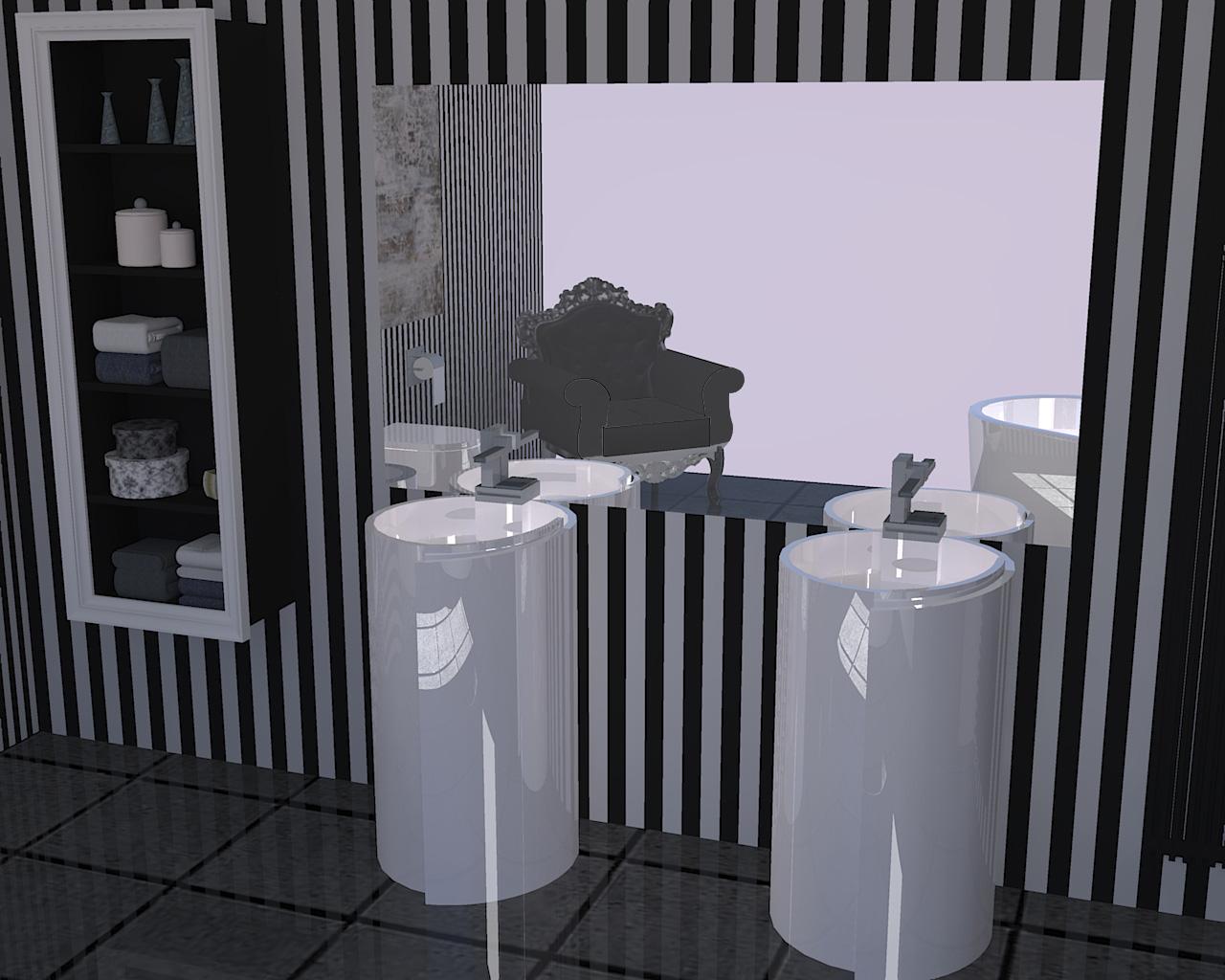 Bagno moderno - Bagno nero e grigio ...