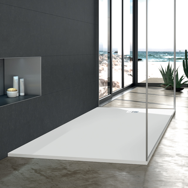New Ultra Low Blu Stone Shower Base