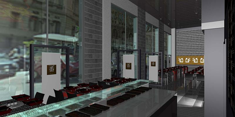 Progetto arredamento ristorante cinese genova liguria for Arredamento hotel liguria