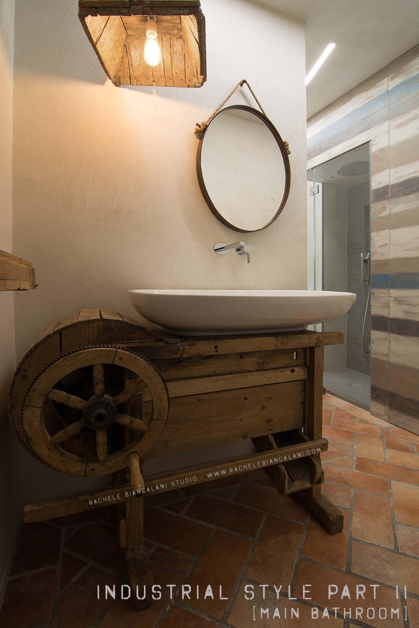 Industrial style diy mood vintage old wood for Tavolini industrial