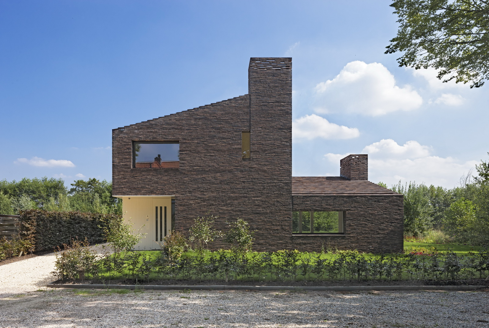 Brickhouse - Landscaping modern huis ...