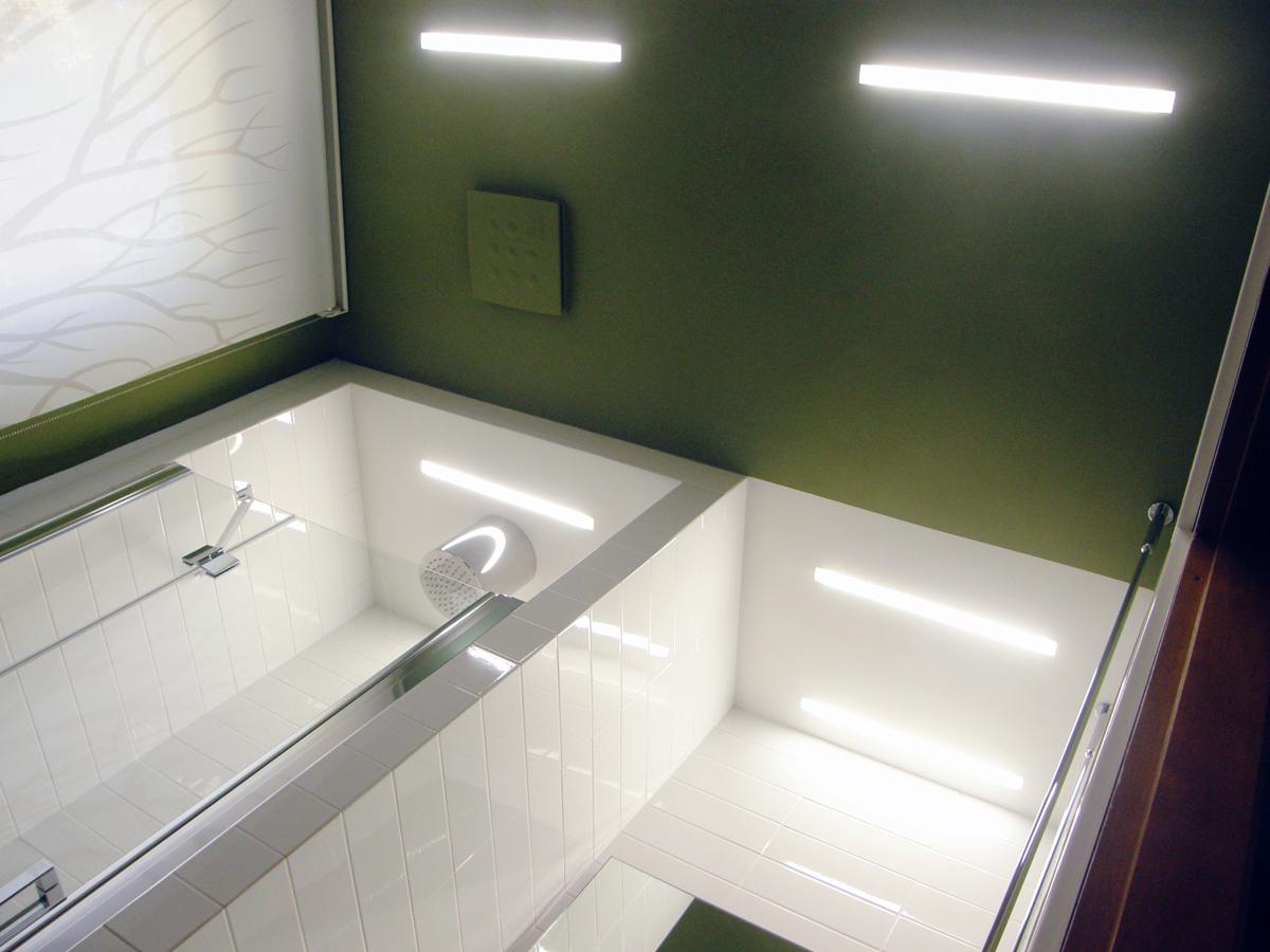 Bianco-verde: dicotomia in bagno